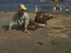 Sport on the Shore – A Crab Race / Harold Harvey