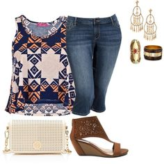 """plus size tribal summer fab"" by kristie-payne on Polyvore"