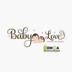 newborn logo design baby logo design by stylemesweetdesign on Etsy Photographer Logo, Photography Logo Design, Angel Pictures, Wedding Background, Kids Logo, Kids Store, Logo Inspiration, Newborn Photography, Baby Design