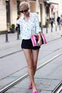 black crochet short