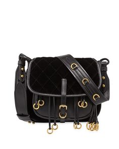 428ae2421bf PRADA Quilted Velvet  amp  Leather Messenger Bag, Olive Green.  prada  bags