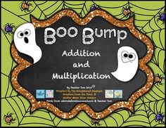Here's a set of ghost themed BUMP games for practicing basic addition or multiplication facts.