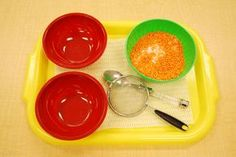 Sifting salt from rice. http://www.justmontessori.com/practical-life/