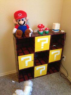 New diy baby nursery furniture play rooms ideas Super Mario Nursery, Super Mario Room, Room Themes, Nursery Themes, Themed Nursery, Nintendo Room, Nursery Storage, Bedroom Storage, Game Room Decor