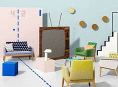 A collection of geometric woven designs inspired by the world of retro computer games, Arcade features four on trend designs in a playful and contemporary colour palette. Textured Weaves Durable High Performance Fabrics
