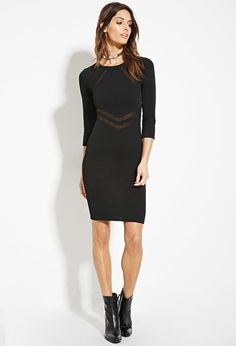 Contemporary Chevron-Patterned Sweater Dress - Shop All Sale - Womens Sale - 2000146226 - Forever 21 EU English