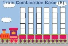 FREE Unifix Cubes Print & Play Number Combinations 5 & 10 Race Game Mats