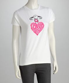 White 'Be Loved' Relaxed-Fit Tee - Women by be you. be true. on #zulily today!