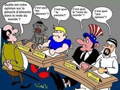 Quelle est votre opinion sur la pénurie d'aliments dans le reste du monde ?