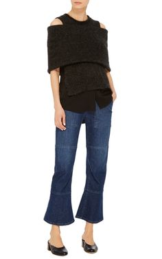 Exposed Shoulder Top by KAUFMANFRANCO for Preorder on Moda Operandi