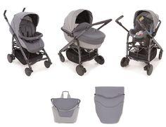 Trio Love, une solution complète idéale pour le transport de bébé de 0 à 3 ans : nacelle/lit-auto, siège-auto et #poussette réversible. Entièrement équipé. #PoussetteCombinéeTrioLove #4roues #combinée #triolove