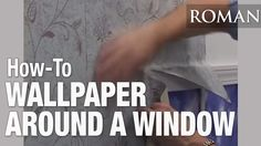 Professional paperhanger Lynnie Winter explains how to properly hang wallpaper around a window frame and create relief cuts easier installation. How To Apply Wallpaper, More Wallpaper, Wallpaper Installation, Told You So, New Homes, How To Remove, Windows, Powder Room, Youtube