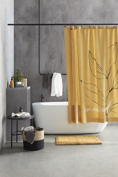 Let It Shine, Modern Typography, Bouclair, Bathroom Collections, Curtains, Neutral, Shower, Yellow, Delicate