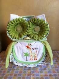 Wise owl made from diapers