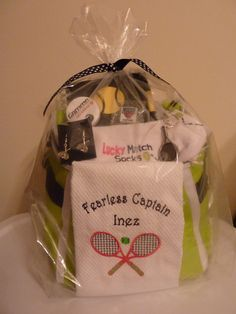 Personalized Gift Basket  Tennis Theme by TennisGiftsAndMore, $60.00