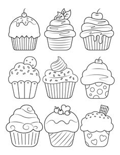 Druckbare Cupcake Malvorlagen Printable cupcake coloring pages, pages Cupcake Coloring Pages, Food Coloring Pages, Coloring Pages For Grown Ups, Free Adult Coloring Pages, Coloring Pages To Print, Free Printable Coloring Pages, Coloring For Kids, Free Coloring, Coloring Sheets