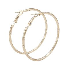 Fashion High Quality Rose Gold Color Round Women Hoop Earrings