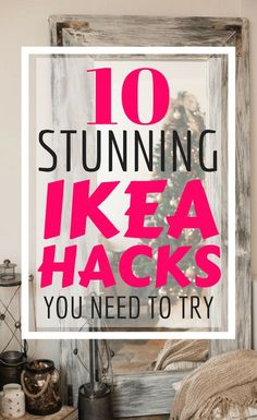 10 money Saving Ikea Hacks that you can do on a tiny budget. Home decor & diy projects are made easy with these awesome Ikea hack tutorials that you'll love Diy Home Decor Projects, Easy Diy Projects, Ikea Hacks, Diy Hacks, Pottery Barn, Do It Yourself Ikea, Crafts For Teens To Make, Craft Ideas For The Home, Kids Diy