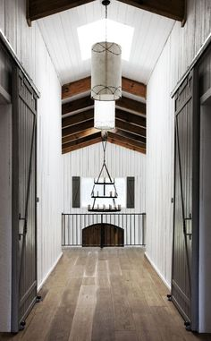 The WOW candle chandelier! Simple Everyday Glamour: Barn Transformation
