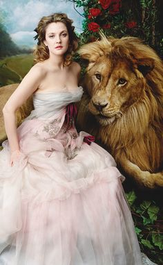Beauty & the Beast - Drew Barrymore in Vogue