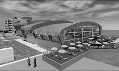 Bu spor salonu ilköğretim ve lise eğitimi veren bir koleje aittir. Arsa sıkıntısı ve zemindeki su problemi nedeniyle tek bodrum ile çözülmeye çalışılan projede, yarı olimpik ölçülerde bir yüzme havuzu ve 500 seyirci kapasiteli basketbol salonu bulunmaktadır. Cephede ve çatıda titanyum panellerin kullanılması ile tasarlanan proje 2014 yılında gerçekleştirilecektir. Yer / PLC : İskenderun, Türkiye İşveren/ CLT