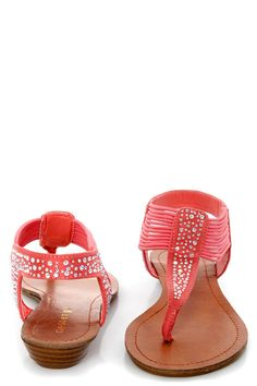 """Gear up for """"Tanduum"""" fandom, because the Madden Girl Tanduum Coral Rhinestone Studded Gladiator Sandals totally live up to the hype! Thong-style T strap with rhinestones. Cute Shoes, Me Too Shoes, Shoe Boots, Shoes Heels, Flats, Crazy Shoes, Dream Shoes, All About Shoes, Gladiator Sandals"""