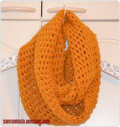 Santun Maja: Tuubihuivin ohje Diy And Crafts, Crafts For Kids, Scarf Tutorial, Tube Scarf, Handicraft, Crochet Projects, Knit Crochet, Crafty, Knitting