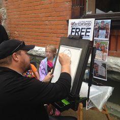 Free Caricatures in front of @avagracefashions #happyfallfest #fallfestival2016 #evlfallfest #fallfestrocks #shopeville