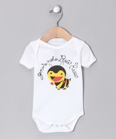 Take a look at this White 'Bees Knees' Organic Bodysuit - Infant by Morado Designs on #zulily today!