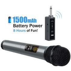 TONOR UHF Wireless Microphone Handheld Mic with Bluetooth Receiver Output for Conference/Weddings/Church/Stage/Party/Karaoke, Microphone Studio, Shielded Cable, Channel, Recorder Music, Usb, Cassette, Audio System, Kirchen, Tv
