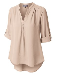 Wear this flowy long sleeve semi sheer chiffon blouse top for any occasion! Perfect for the office with a midi skirt or on the weekends with jeans. The airy soft material will keep you cool and comfort all day long. Sheer Chiffon, Chiffon Tops, Blouse Styles, Blouse Designs, Look Fashion, Fashion Outfits, Casual Skirt Outfits, Fall Outfits, Ladies Dress Design