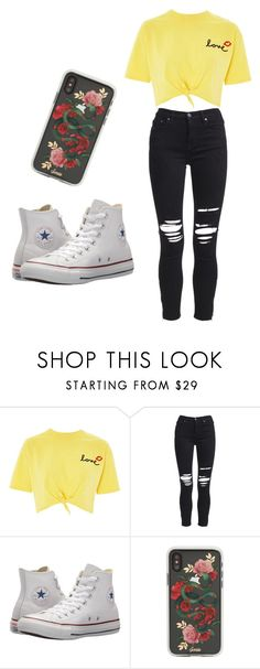 """Untitled #82"" by kacis-kacis on Polyvore featuring Topshop, AMIRI, Converse and Sonix"