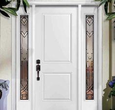Resultado de imagen de fotos de puertas de entrada aluminio en blanco modernas