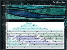 МК Волны из остатков пряжи