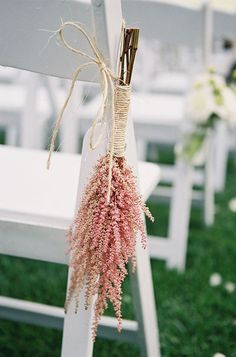 with baby's breathe? Great ceremony idea: Use astible to decorate chairs | Brides.com
