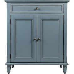 With its distressed vintage paint finish, fluted details and French provincial mouldings, this exquisite cabinet is sure to grace your space in such a très chic way. Adjustable shelved storage is abundantly practical, be it in a dining room, bedroom or entryway.