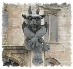 My Giant Gargoyle : PDF download  knitting PATTERN ONLY. $6.50, via Etsy.