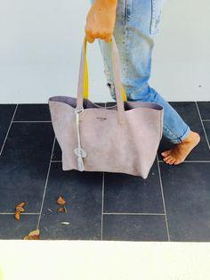 Cabas XL Souris → disponible sur www.leszirondelles.com