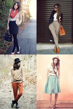 scarf, coral, tights, boots, leather, hat, midi skirt, fashion, outfits