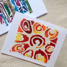 Colorful Summer Note Cards Batik Summer Note Cards by fishwarp