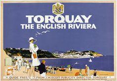 Torquay The English Riviera Travel Poster