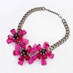 Punk Fashion Flower Pendants Choker Necklace[US$10.33]shop at www.favorwe.com
