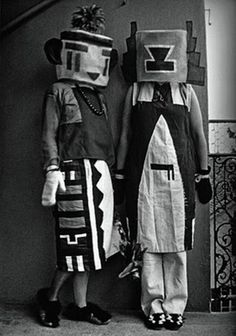 Kachina Doll costume from 1922, by Sophie Taeuber-Arp, (Swiss artist, and wife of artist Jean Arp)