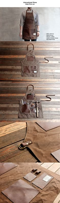 Leatherworking apron