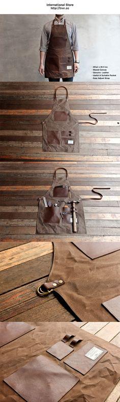 Leatherworking apron