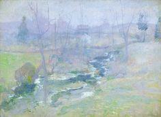 "John Henry Twachtman, ""End of Winter"" (after 1889)"