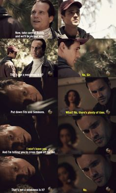 That's not a weakness is it? || AOS 1x21 Ragtag || John Garrett, Grant Ward || 736px × 1,223px || #quotes