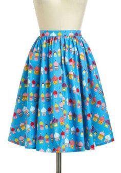 It's like a teacher skirt!!!! I want it! World-Wind Tour Skirt, #ModCloth