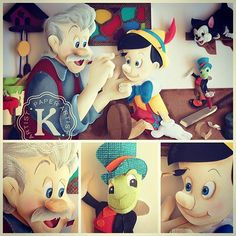 Pinocchio. Disney paper sculpture by Karin Arruda