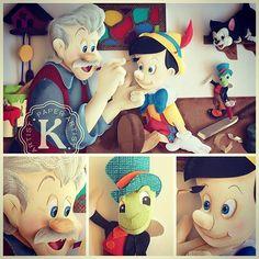 Pinocchio. Disney paper sculpture by Karin Arruda